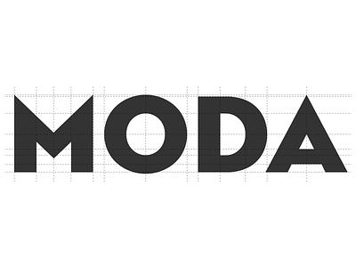 Moda logotype grid logotype logo moda