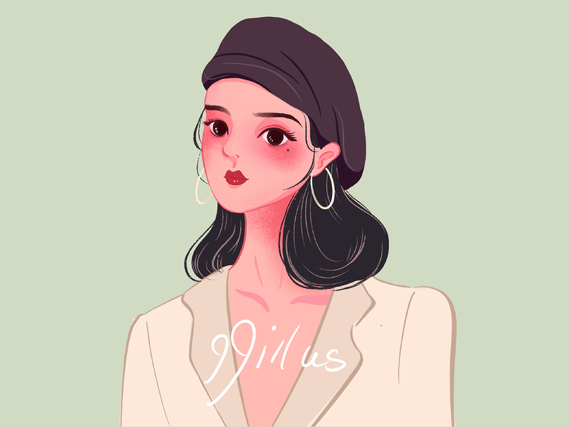 girl in the beret