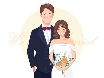 Wedding Card love card marriage wedding illustration