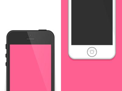 iPhone 5 Flat Design iphone 5 flat iphone ai eps mockup sample free