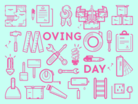 Moving day icons