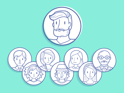 Profile Characters graphic gender app flat ui illustration character profile placeholders