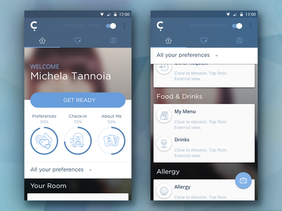 Conichi Dashboard - Android version material app flat scroll dashboard icons interface android ui