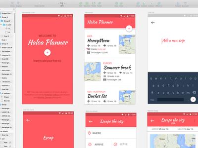 Haloa Planner sketch hackathon summer dashboard travel planner ui webapp app