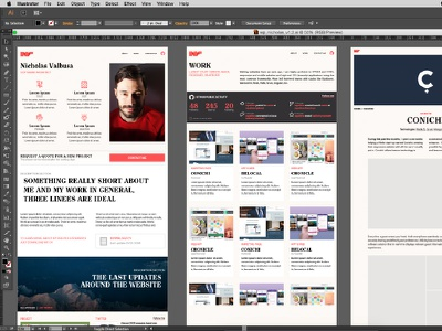 Creating some rules magazine blog work article adobe illustrator layouts template portfolio