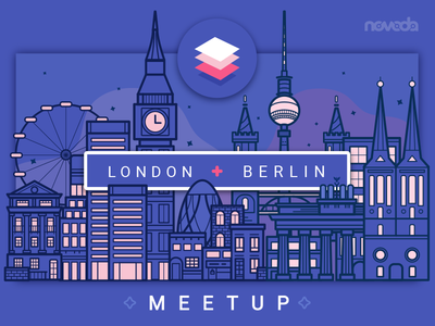 MaterialUp Meetup - Berlin+London android community night illustration ui material building city london berlin meetup materialup