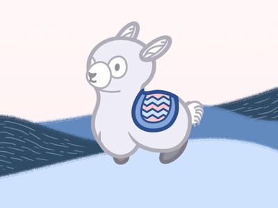Lama  pet illustration icon mascotte lama