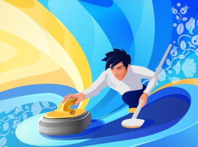 Curling Illustration