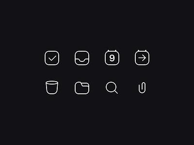 Check Icons checkbox iconset sketch figma svg pdf vector icons calendar ui attach search folder delete trash forward calendar inbox check