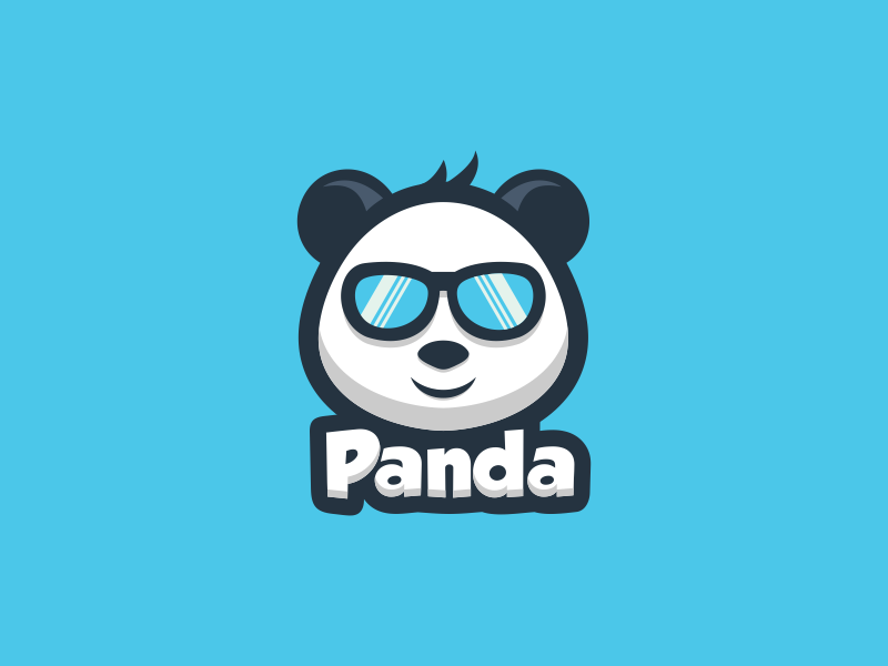 Panda geekpanda cutepanda panda artwork branding company vector illustration sketch coreldraw busines card brand identity logo