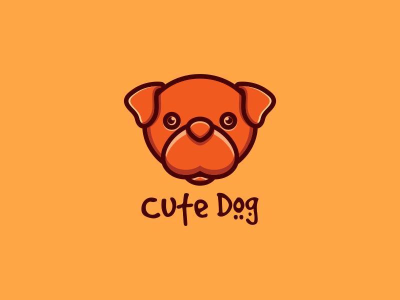 Cute Dog dog cutedog vector illustration sketch artwork crfeative coreldraw busines card brand identity logo