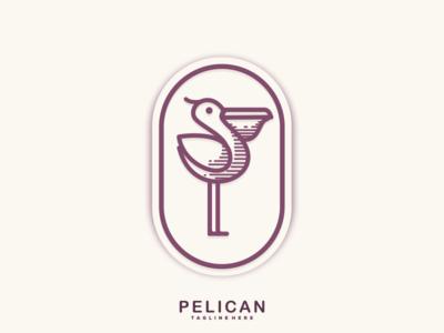 Pelican Line Art