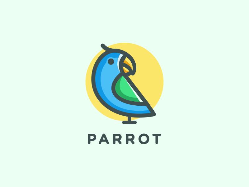 Parrot company photoshop illustration graphich design forsale grid sketch artwork crfeative coreldraw busines card brand identity logo