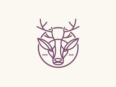 Deer Line Art consulting branding esport photoshop company illustration graphich design forsale grid sketch artwork crfeative coreldraw busines card brand identity logo
