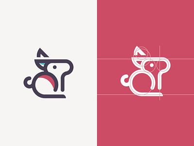 BUNNY LOGO CONCEPT bunny graphich design forsale grid sketch artwork crfeative coreldraw busines card brand identity logo