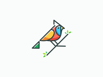 cardinal bird monoline cardinal bird cardinalbird graphich design forsale grid sketch artwork crfeative coreldraw busines card brand identity logo