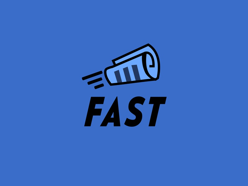 30 Day Logo Challenge: Day 17 'Fast' fast thirty logo logo contract typography thirty days thirty day brand branding graphic thirty day