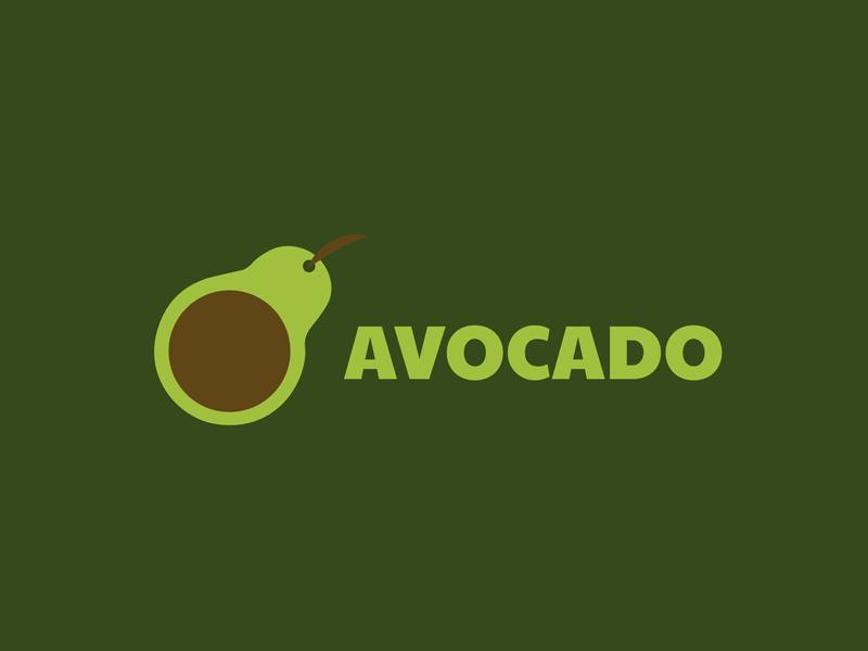 30 Day Logo Challenge: Day 24 'Avocado' thirty day graphic branding brand day thirty thirty days typography app logo thirty logo avocado
