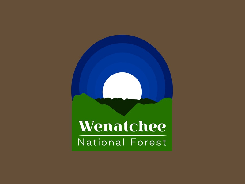 30 Day Logo Challenge: Day 25 'Wenatchee National Forest' wenatchee national forest thirty logo logo park typography thirty days thirty day brand branding graphic thirty day