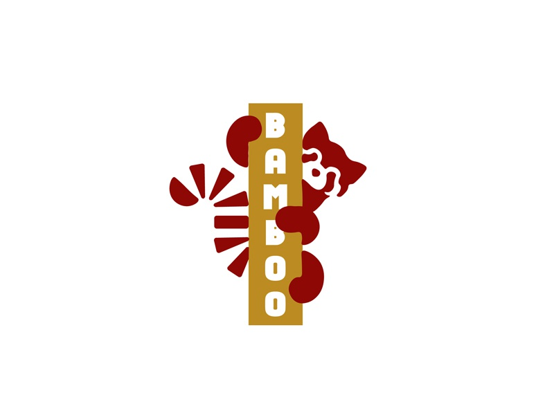 Daily Logo Challenge (Day 03/50): Panda Logo bamboo panda wordmark branding brand challenge logo daily dailylogochallenge