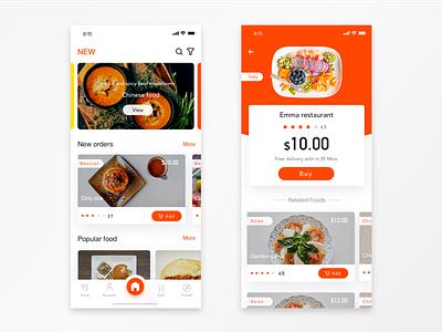 Take-away meals app food orange app take-away meals