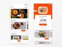 Take-away meals app