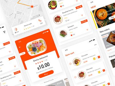 Take-away meals app orange take-out 应用 设计