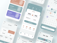 Flight ticket UI design