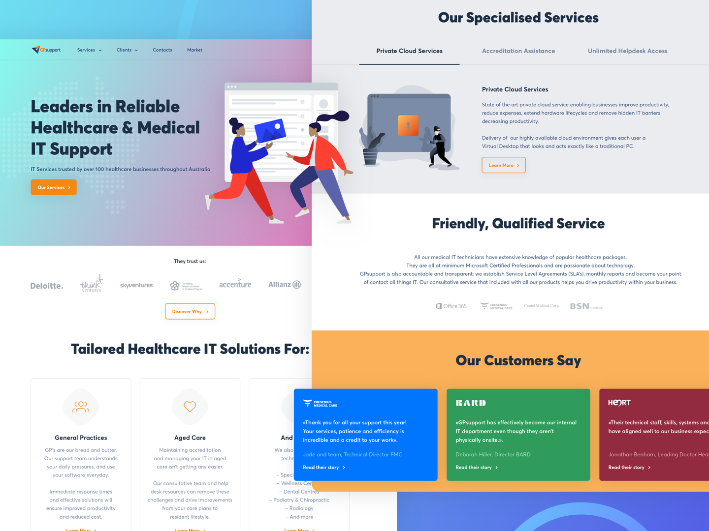 «GPsupport». Leaders in reliable healthcare & medical it support interface sketchapp thedesigntip uxigers support leaders it australia services heart health medical dailyinspiration uitrends graphicdesign design uxdesign uidesign inspiration web