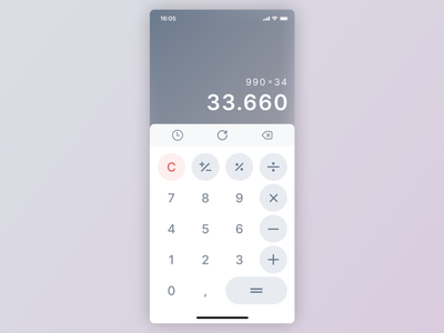 Calculator Concept calculator design calculator ui calculator dailyui 004 ui design uidesign dailyuichallenge daily ui dailyui ui minimal flat design