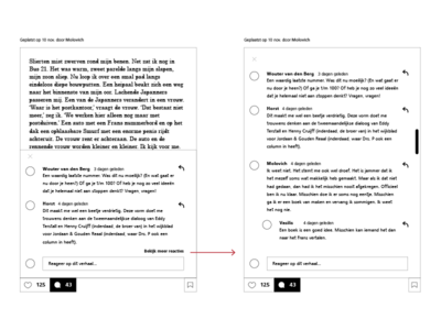 View more comments interaction story wireframe comment interaction
