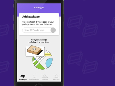 Add package deliveries delivery ui illustration nav navigation menu state partial input field interaction package