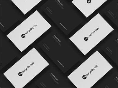 Business Card Template Awaghlis Pub Agency advertising agency business card template business card algeria branding