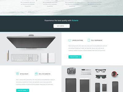 Octavia Landing Page - Free PSD psd white minimal clean www website web homepage page landing freebie free