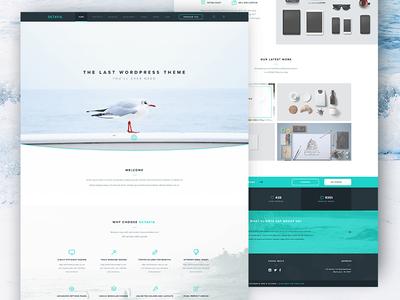 Octavia Landing Page - Free PSD