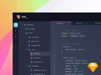 Edd - code editor (.sketch)