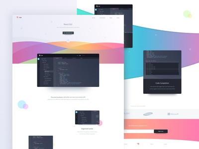 Edd - Landing Page (.sketch) ux ui sketch homepage product freebie free editor page landing coding code