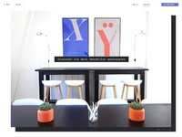 Inspiring workspaces   landing page