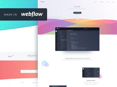 Edd - landing page (webflow template) ux ui html product page landing homepage freebie free editor webflow code