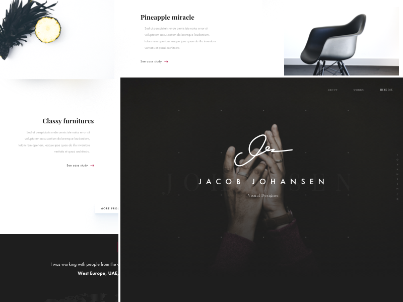 Download Portfolio – landing page (.sketch)