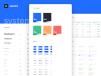 Uzers System WIP (Preview) figma interface brand identity brand web app ui design style guide styleguide typography table form inputs buttons blue color palette design system ui kit
