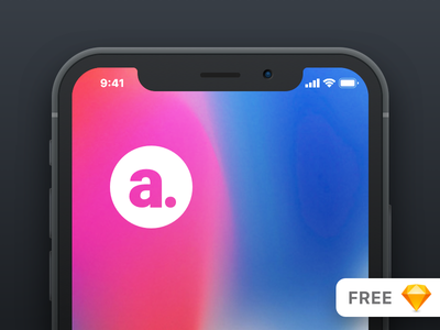 iphone X allurive minimal clay mobile ios device apple iphone mockup iphonex