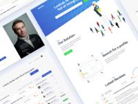 Web based hiring solution design web responsive ratings employee hire website