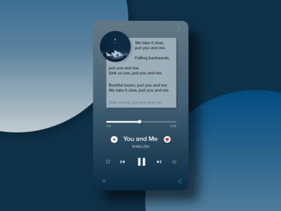 Daily UI #009 Music Player