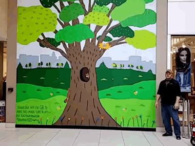 Second Augmented Reality mural in Stark county augmented reality animation painting mural ohio canton artivive