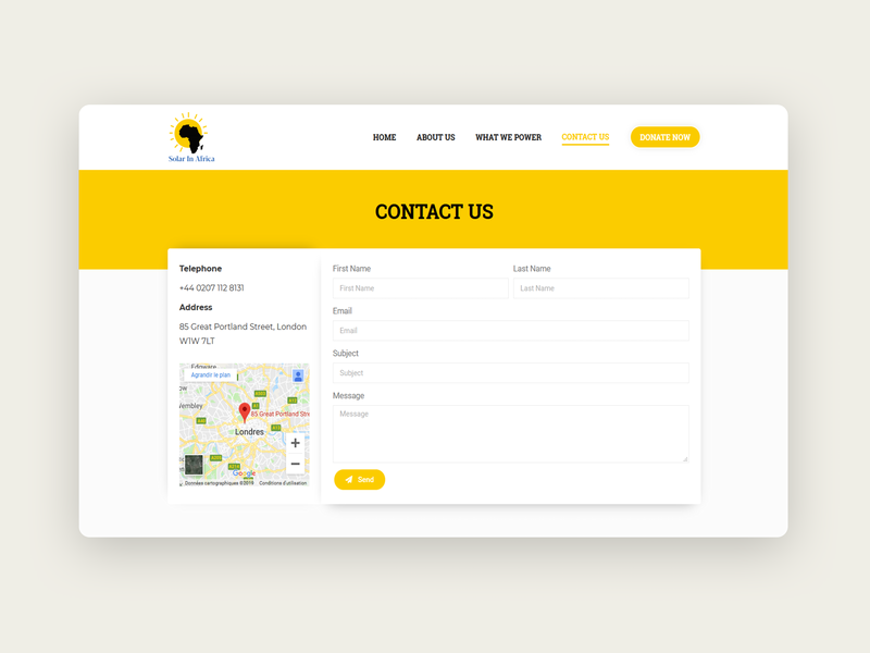 Contact Page map form design shadow uxdesign ui yellow contact page design contact page