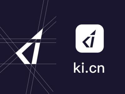 ki.cn logo design