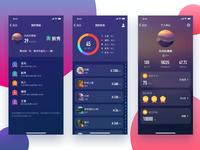 Huaweiwear Profile UI design