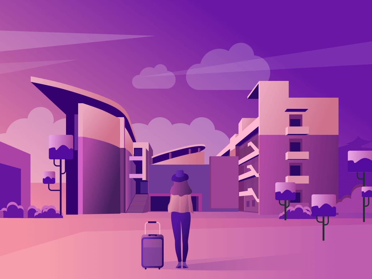 an illustration of my Alma mater ui design illustration flat