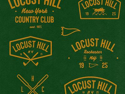 Locust Hill CC marks apparel distress sportsdesign golf retro icon typography vintage badge design sports